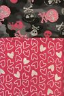 NEW Flannel Pillow Case Hot Pink Hearts Trimmed Gray Camo Skulls Free Shipping