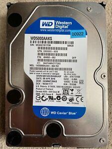 """500GB Western Digital Caviar Blue 3.5"""" SATA II Desktop / PC HDD 7200RPM 16MB"""