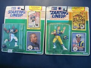 1990 Starting Lineup Figure with Rookie Year Card Neal Anderson Jim Everett NIP