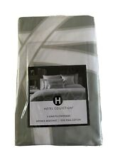 """BRAND NEW Hotel Collection """"Gate"""" King Pillowshams $150 MSRP Green"""