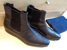 Prada ripple ankle boot UK 9 43 mens black textured grain leather dealer chelsea