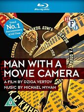 MAN WITH A MOVIE CAMERA di Dziga Vertov BLURAY Documentario NEW .cp