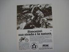 advertising Pubblicità 1978 MOTO SIMONINI MUSTANG 125