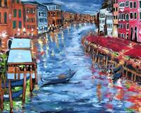 VENICE GONDOLA ORIGINAL Art PAINTING DAN BYL Fine Modern Contemporary Huge 4x5ft