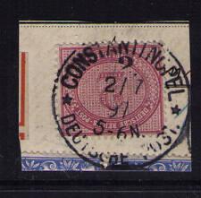 Deutsche Post in der Türkei, Mi-Nr. V 37 e, Briefstück, geprüft