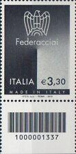 2010 francobollo Made in Italy: Federacciai CON CODICE A BARRE 1337