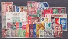 Egypt Sc 153/N85 MLH. 1928-62 issues, 38 cplt sets