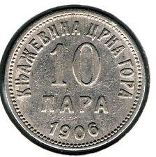 MONTENEGRO - 10 PARA 1906 KM# 3