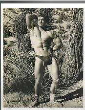 young Adonis LARRY SCOTT  Bodybuilding Beefcake Muscle Fitness Photo B&W 1960s