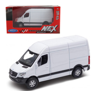 Welly Mercedes Sprinter Panel Van White Die Cast Scale Model Toy Brand New Boxed