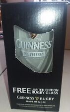 "1 Guinness Rugby Bierglas Limited Edition ""The Veteran""  Neu"