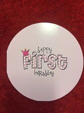 "5 Pack of Paper Eskimo ""Happy First Birthday"" Greeting Card for Girls"