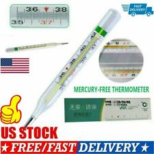 Kids Adult Dual Scale Classic Clinical Glass Mercury-Free Thermome Thermometer