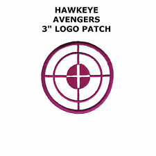"Marvel Comics Avengers Hawkeye 3"" Logo  Embroidered Iron/Sew-On Patch USA Seller"