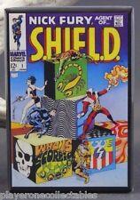 """Nick Fury Agent of S.H.I.E.L.D. #1 Comic Book 2"""" X 3"""" Fridge / Locker Magnet."""