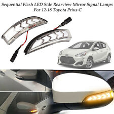 2pc Sequential Flash Side Mirror Turn Signal LED Lights For 12-18 Toyota Prius C