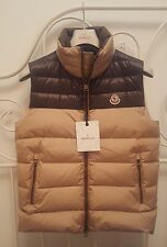Authentic New Moncler Dupres Men's Puffer Vest in Beige on Kkaki Size 1/US Small