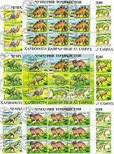 TIMBRES ANIMAUX PREHISTORIQUE : 8 BLOCS TIMBRES DU TADJIKISTAN / ANIMALS STAMPS