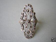 925 Sterling Silber Ring 4,0 g mit Markasit Silber Schmuck Gr 53