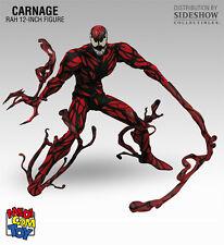 "Carnage 12"" Action Figure - Medicom Toy 236 RAH Amazing Spider-Man Sideshow Rare"
