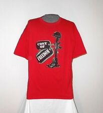 "NEW MILITARY ""COST OF FREEDOM"" T-SHIRT  RED  XL  *L@@K*   NWOT"