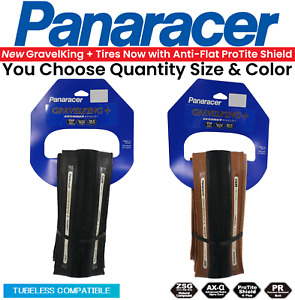 Panaracer Gravelking SLICK+ Plus TLC 700c Tubeless Tire Choose Size Black Brown