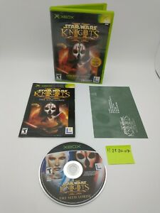 Star Wars Knights of the Old Republic II 2 for Xbox Complete CIB w/ Manual, Card