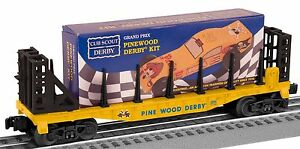 2013 lionel Boy Scouts of America O27 Flat Car w Pinewood Derby Kit new inthebox
