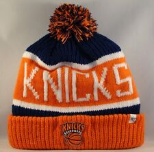 NBA New York Knicks Cuff Knit Pom Hat 47 Brand Calgary