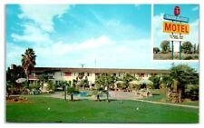 Tagus Ranch Motel, Tulare, CA Postcard