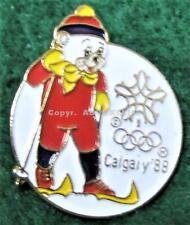 1988 OLYMPICS CALGARY MASCOT HOWDY CROSS COUNTRY SKIING Pin CANADA