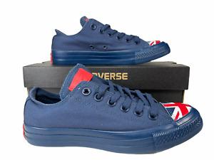 Converse United Kingdom UK Flag Chuck Taylor Ox Sneaker Navy 4.5 Men (6.5 Women)