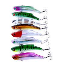 New 8pcs Lot Bass Laser VIB Bait CrankBaits Tackle Hooks Fishing Lures 9cm/27g