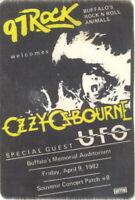 OZZY OSBOURNE 1982 DIARY OF A MADMAN BUFFALO BACKSTAGE RADIO PASS / EX 2 NMT