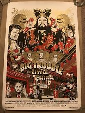 John Carpenter Big Trouble In Little China Movie Print Poster Mondo Tyler Stout