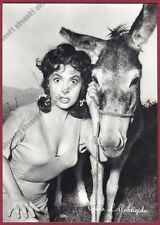 GINA LOLLOBRIGIDA 57 ATTRICE ACTRESS CINEMA MOVIE STAR PEOPLE Cartolina FOTOGRAF