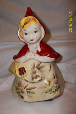 VINTAGE HULL 967 LITTLE RED RIDING HOOD COOKIE JAR - OPEN BASKET - USA