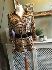 ZARA Animal Print Shirt Blouse V Neck SMALL BNWT Bloggers