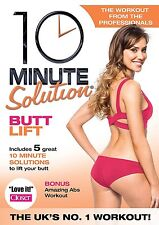 10 Minute Solution: Butt Lift DVD New Workout Fitness ABS Cardio