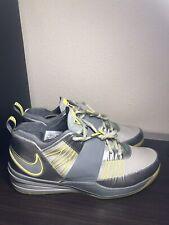 Nike Zoom Revis Oregon Ducks Silver Grey Green Yellow Size 11 Sample PE