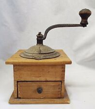 Old Antique IMPERIAL ARCADE MFG CO. Wooden Table Top COFFEE GRINDER -WORKS-