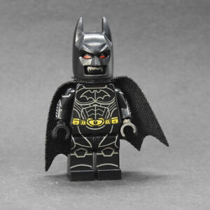 Custom minifigures Batman Begins w/ hallucination head on lego brand bricks