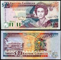 EAST CARIBBEAN 20 DOLLARS ND 1993 P 28 V ST. VINCENT UNC