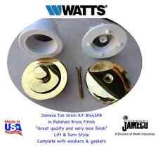 WATTS 442 PB  Lift & Turn Tub Waste Drain Kit in Polished Brass  Made in USA