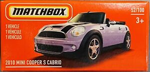 Matchbox 2010 Mini Cooper S Cabrio Light Purple 2021 New Release