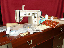 Sears Kenmore Tri-Span 88 Sewing Machine Mod 158 w/Book, Embroidery Cams, Accs