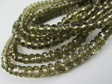 Glass Rondelle Faceted Black Smoky Loose Beads spacer crystal 4mm 6mm 8mm 10mm
