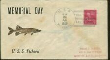 1939 San Diego California U.S.S. Pickerel Memorial Day Postal Cover