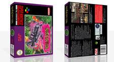 Ghoul Patrol SNES GIOCO DI RICAMBIO CASE box + copertina lavoro (NO GAME)