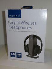 Insignia NS-HAWHP2 RF Wireless Over the Ear Headphones - Black